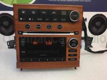 INFINITI G-35 G35 BOSE Wood Grain Radio Stereo 6 Disc Changer MP3 CD Player 2005 2006 2007
