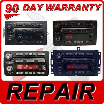 REPAIR Service 2004 2005 2006 Chevy Tahoe Suburban Blazer Silverado OEM Radio 6 Disc CD Changer