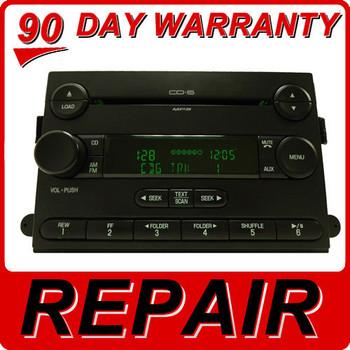 Repair Service 2004 2005 2006 2007 2008 2009 2010 FORD OEM Edge Five Hundred Focus Freestyle Fusion 6 CD Changer Repair