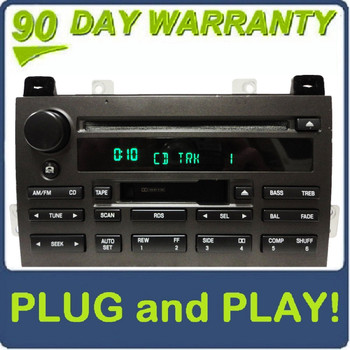 2003 - 2005 Lincoln Town Car OEM RDS Premium Sound/Audiophile Radio Cassette Tape Single CD Player