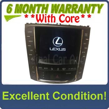 2010 - 2012 Lexus IS250 IS350 OEM Navigation Radio Climate Control Display Screen