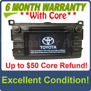 2013 - 2018 Toyota Rav4 AM FM Radio OEM Touchscreen Bluetooth Unit 100327