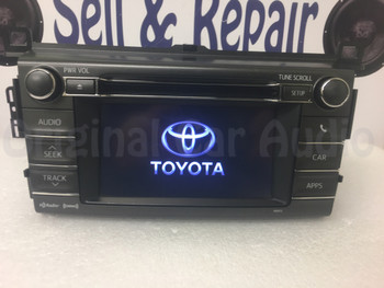 2013 2014 2015 Toyota Rav4 OEM AM FM Entune Touch Screen Bluetooth Unit 100072