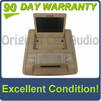 GMC Chevy Overhead DVD Screen TAN Rear Entertainment With Surrounding Bezel
