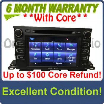 2014 2019 14 19 Toyota Highlander OEM Gracenote GPS Navigation HD AM FM Radio Receiver Bluetooth CD Player 57063