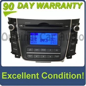 2013 - 2016 Hyundai Elantra OEM AM FM MP3 Bluetooth Single CD XM Radio