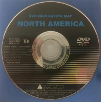 Toyota Lexus Navigation Map DVD 86271-33031 DATA Ver. 02.1 D