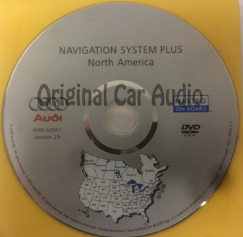 2005 2006 2007 Audi OEM Navigation System Plus DVD AND-A0501 Version 2A