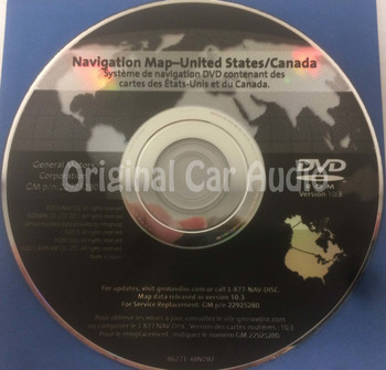 GM Satellite Navigation System GPS DVD Drive Disc 22925280 Version 10.3