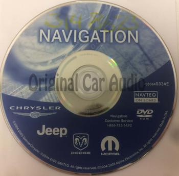 2004 - 2008 Jeep Commander Grand Cherokee Liberty OEM Navigation Map DVD 05064033AE
