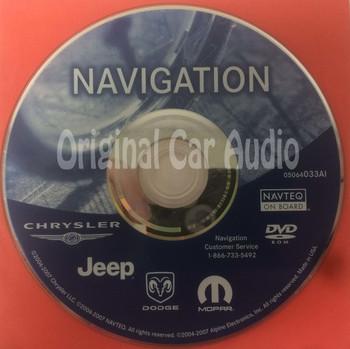 2004 - 2008 Jeep Commander Grand Cherokee Liberty OEM Navigation Map DVD 05064033AI
