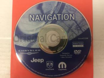 2004 to 2008 Jeep Commander Grand Cherokee Liberty OEM Navigation Map DVD 05064033AK