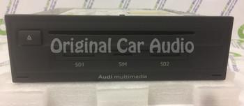 2015 2016 2017 Audi Q7 OEM Multimedia SIM SD CD Player Control Unit