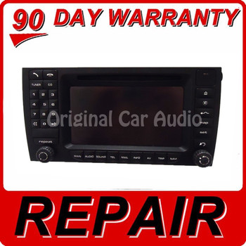 REPAIR 2006 - 2008 PORSCHE Caynne PCM 2.1 Navigation Touch Screen Radio CD REPAIR
