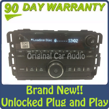New Unlocked 2007 2008 2009 2010 2011 2012 Buick Chevrolet Chevy OEM AM FM MP3 AUX 6 CD Player Receiver