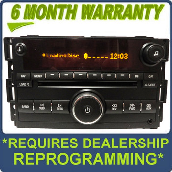 NEW Saturn OEM Radio 6 Disc CD Changer MP3 Player AUX