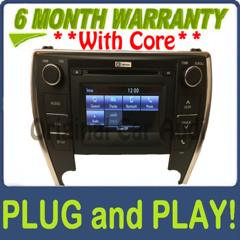 2015 - 2016 Toyota Camry OEM Touch Screen Display AM FM Radio Receiver 100366