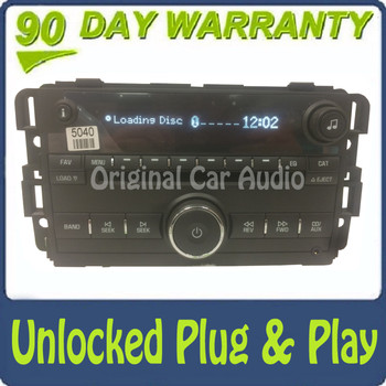 Unlocked 2007 2008 2009 2010 2011 2012 Buick Chevrolet Chevy OEM AM FM MP3 AUX 6 CD Player Receiver