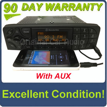 2001 - 2004 Mercedes C Class Radio and  Tape Player With Added AUX