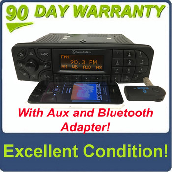 2001 - 2004 Mercedes C Class Radio and  Tape Player With Added AUX and Bluetooth Adapter
