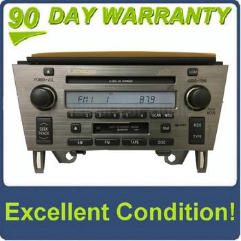 2002 - 2005 Lexus SC430 OEM Radio Tape Cassette Mark Levinson Radio 6 CD Changer P6813