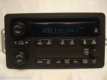 cadillac navigation radio screen mp3 6 cd changer amplifier 05 Cadillac CTS Interior 03 04 05 06 chevy silverado suburban tahoe radio cd player