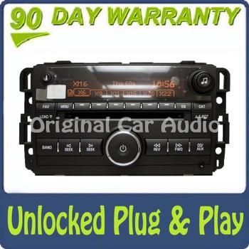 2007 - 2008 GMC Sierra Yukon H2 Chevy Silverado Tahoe XM Radio UNLOCKED 6 CD Changer AUX
