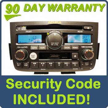 Acura MDX BOSE Navigation Radio Tape CD Player 1XF2 1XF0