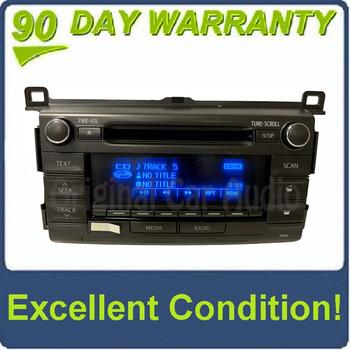 2013 - 2016 Toyota Rav4 OEM Single CD AM FM Bluetooth Media Radio Receiver