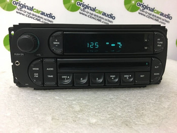 2002 - 2005 Chrysler Dodge Jeep OEM AM FM Radio CD Player Receiver RBK With AUX