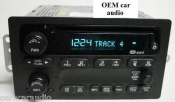 GMC Chevy Envoy Trailblazer radio AM FM receiver CD player