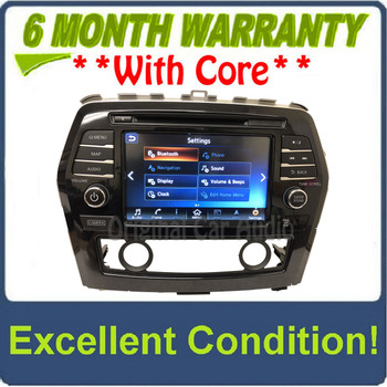 2016 - 2018 Nissan Maxima OEM NON-BOSE Touch Screen Navigation AM FM XM Receiver CAR PLAY