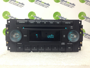 2004 - 2008 Chrysler Jeep Dodge OEM Radio CD Player Receiver REF w/ NO KNOBS