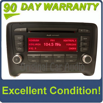 2008 - 2014 Audi TT OEM Single CD BOSE Concert AM FM SAT Radio Receiver