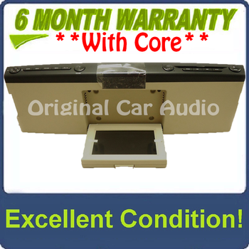 NEW 2006 - 2010 Ford Explorer Edge F150 OEM Overhead RSE Rear Seat DVD Player Display Assembly BLACK/TAN