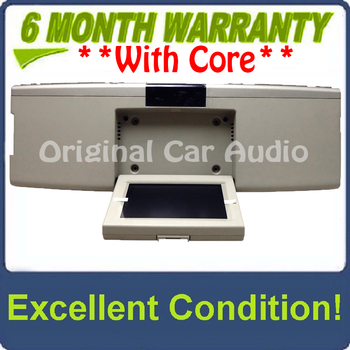 2007 - 2010 Ford Explorer Flex F150 OEM Overhead RSE Rear Seat DVD Player Display Assembly SILVER/LIGHT BEIGE