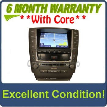 2012 - 2013 Lexus IS250 IS350 OEM Touch Screen Navigation Climate Information Display Monitor and Radio P10362