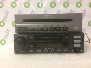 1995 - 2005 Subaru Baja Forester Legacy Outback WRX OEM AM FM Tape Cassette Stereo 6 CD Player Receiver P120