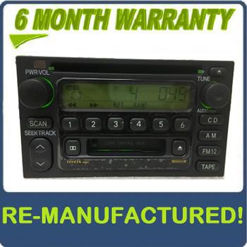 REMANUFACTURED 1999 - 2004 Toyota OEM AM FM Radio Tape CD Player Receiver AD6803