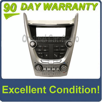 2010 - 2011 Chevrolet GMC Equinox Terrain OEM Radio Climate Control Panel and Display BEZEL ONLY
