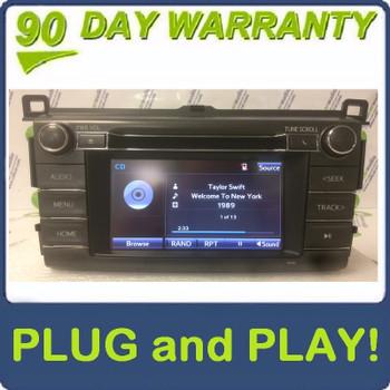 2013 - 2017 Toyota Rav4 Touch Screen AM FM Radio CD Player Receiver 100189