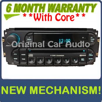 Remanufactured 2003 - 2005 Chrysler Jeep Dodge OEM AM FM Radio 6  CD Changer Receiver RBQ