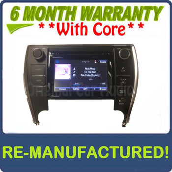 REMANUFACTURED 2015 - 2016 Toyota Camry OEM Gracenote Touch Screen Navigation AM FM HD Radio Receiver