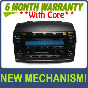 Re-manufactured NEW MECHANISM 2004 2005 2006 2007 2008 Sienna JBL Radio Tape  and 6 CD Changer