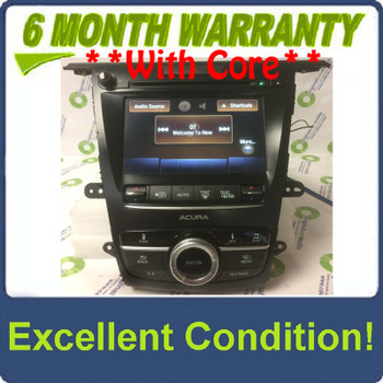 2015 - 2017 Acura TLX OEM Non Navigation Radio Display Screen Receiver w/ Controller