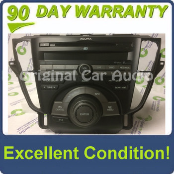 New 2009 - 2011 Acura TL OEM Navigation Gracenote AM FM CD Player Receiver NO Climate Buttons 3BB0, 3PB0