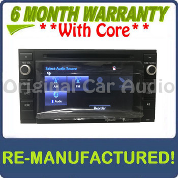 REMANUFACTURED 2014 2015 2016 2017 Toyota Tacoma OEM Entune Radio CD Player w/out Bezel Trim