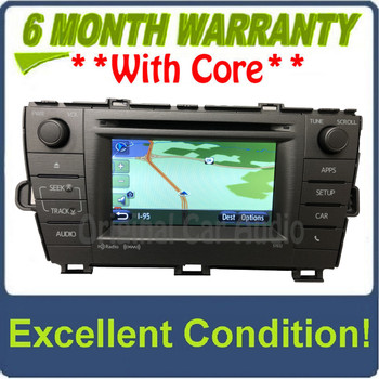 2011 - 2015 Toyota Prius JBL OEM Radio CD Player Green Edge