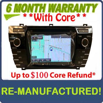 Remanufactured 2014 2015 2016 Toyota Corolla OEM Navigation Touchscreen Gracenote XM Satellite MP3 CD Receiver