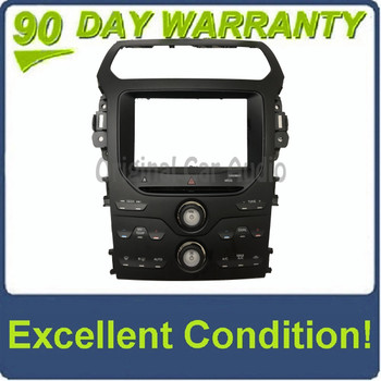 """2012 Ford Explorer OEM 8"""" Radio Display Climate Control Faceplate BEZEL ONLY"""